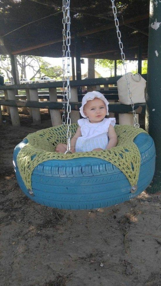 Gartenschaukel Kinder – 30 DIY Kinderschaukel für kreative Eltern