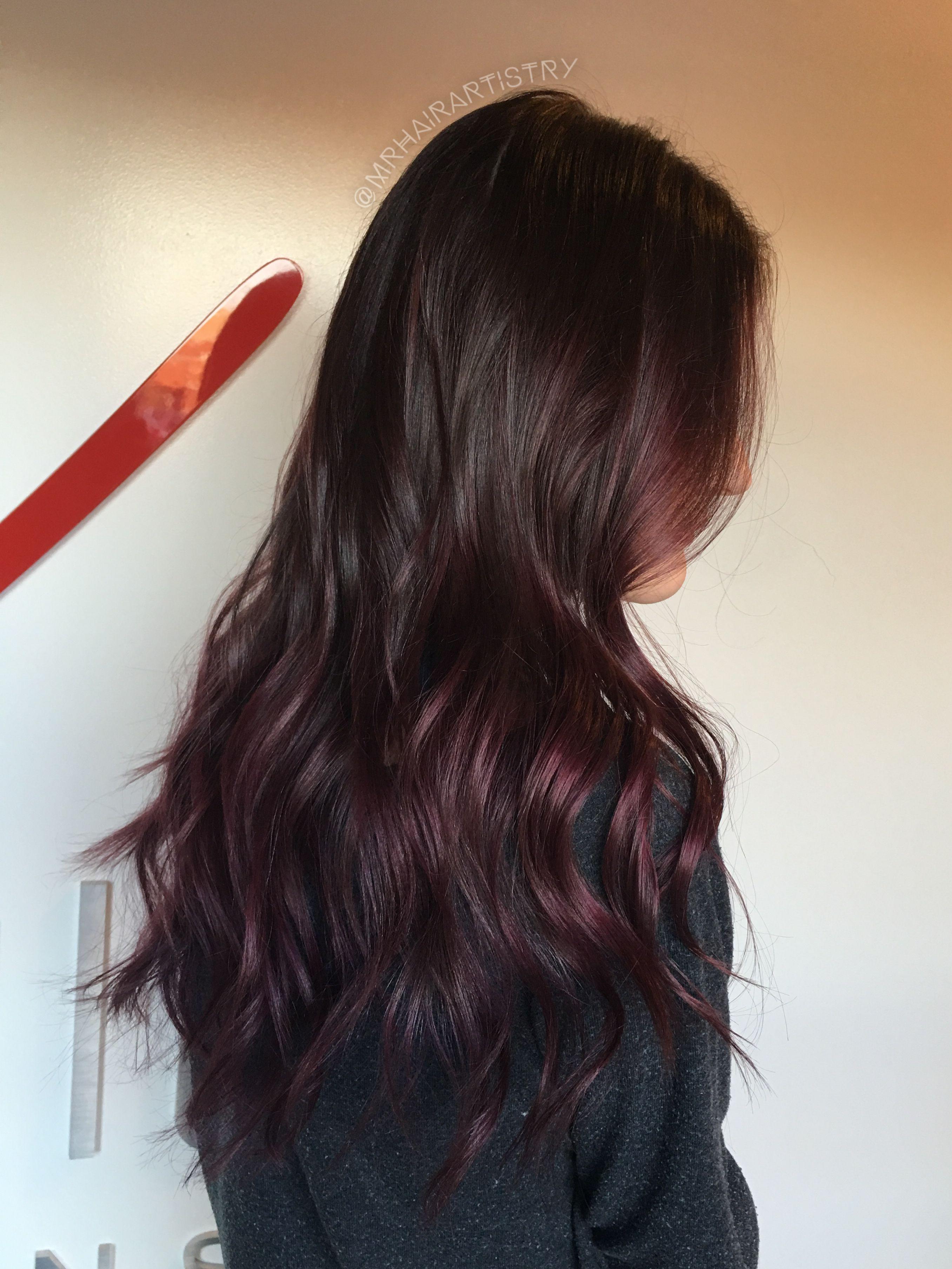 Maroon Balayage Beautiful Hair Pinterest Balayage Hair And