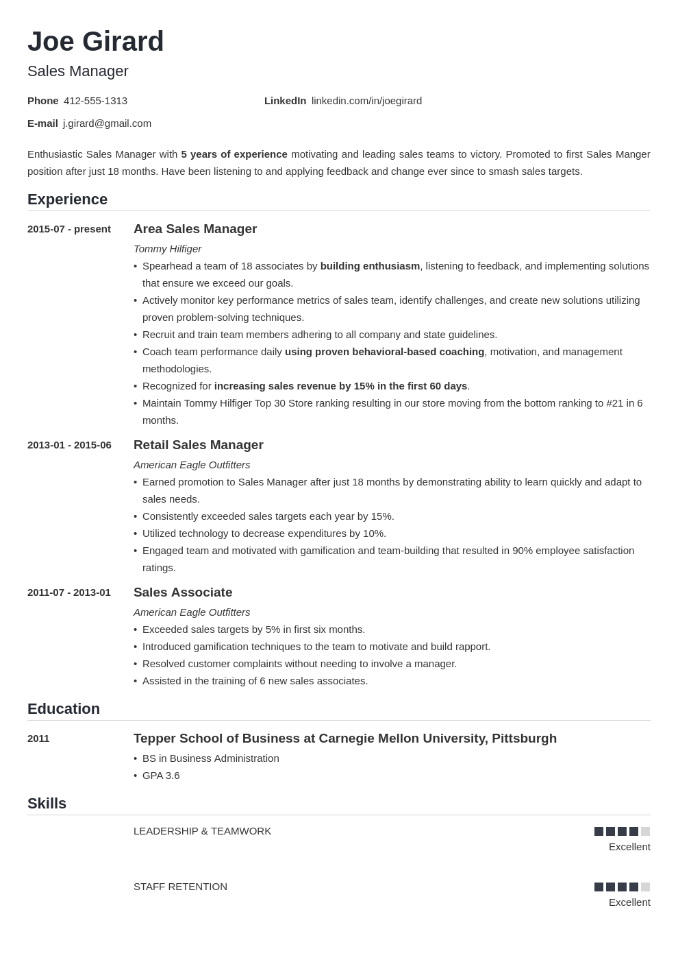 sales manager resume example template nanica in 2020