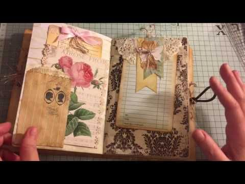 Love Is Chic Vintage Journal Ephemeras Vintage Garden Youtube Vintage Junk Journal Vintage Journal Scrapbook Journal