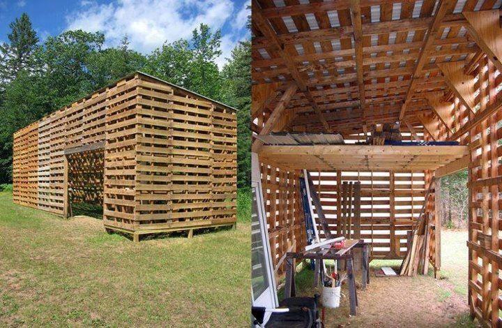 Idée récup - Fabriquez des meubles avec des vieilles palettes - construire son garage en bois