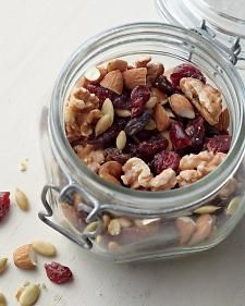 Cranberry-Pumpkin Seed Trail Mix: store up to 1 week in air-tight container.