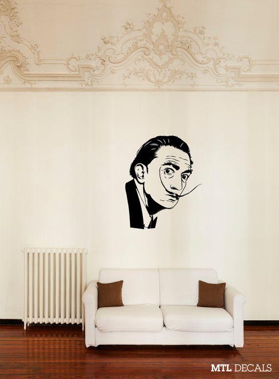Items similar to Dali Wall Decal / Salvador Dali Wall Sticker Home Decor x on Etsy & Surrealism by Antonella Olivieri on Etsy | Etsy Treasury Lists ...