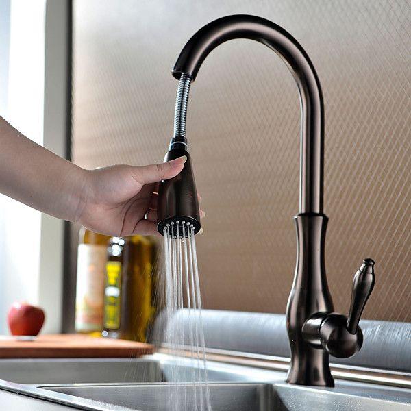 oil rubbed bronze kitchen faucet