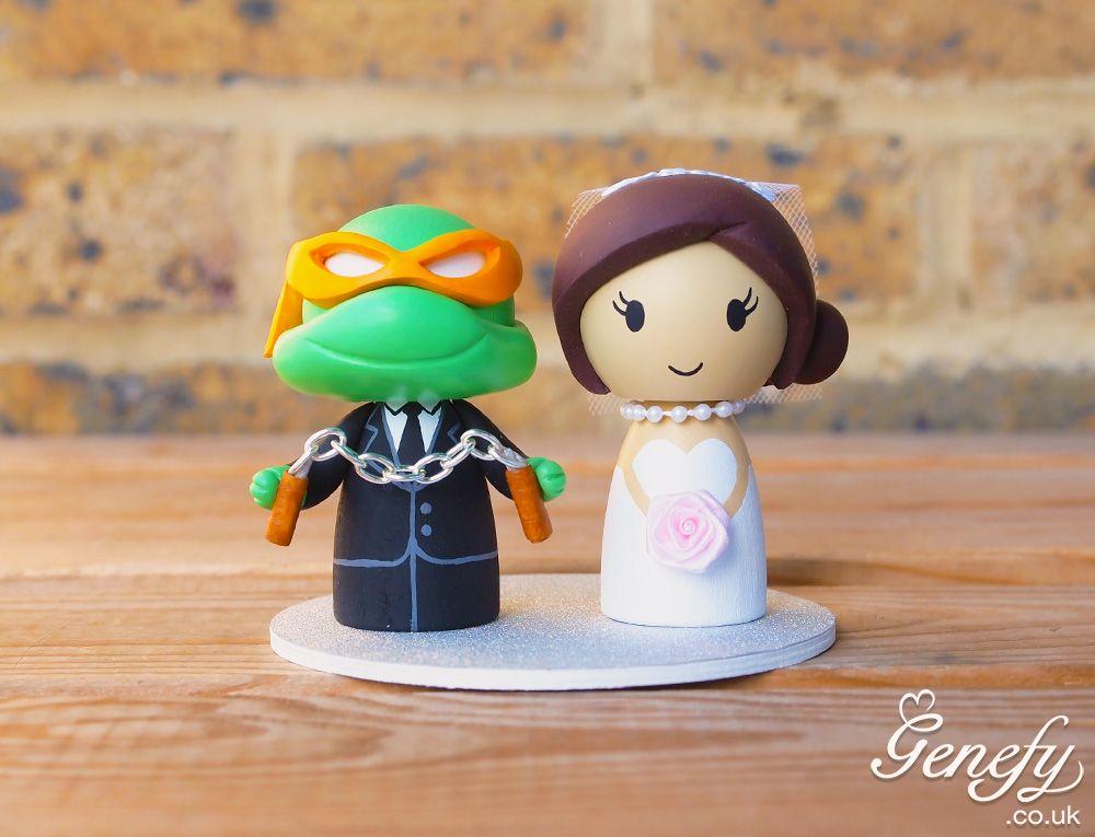 Cute Teenage Mutant Ninja Turtle Michelangelo Wedding Cake Topper By Genefyplayground Https Superhero Birthday Cake Ninja Turtle Wedding Wedding Cake Toppers