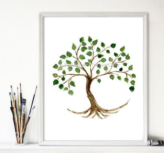 Tree Of Life Art Print Tree Painting Tree Of Life Art