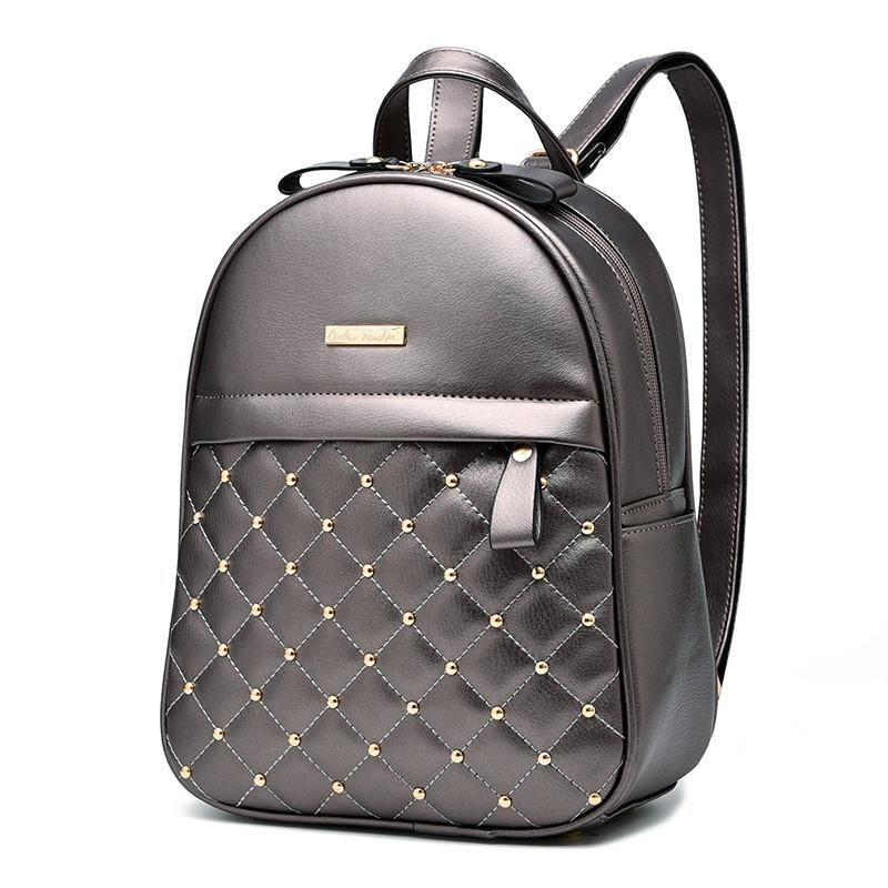 Leather Button Backpack in 2019  6f95b885e8f8a