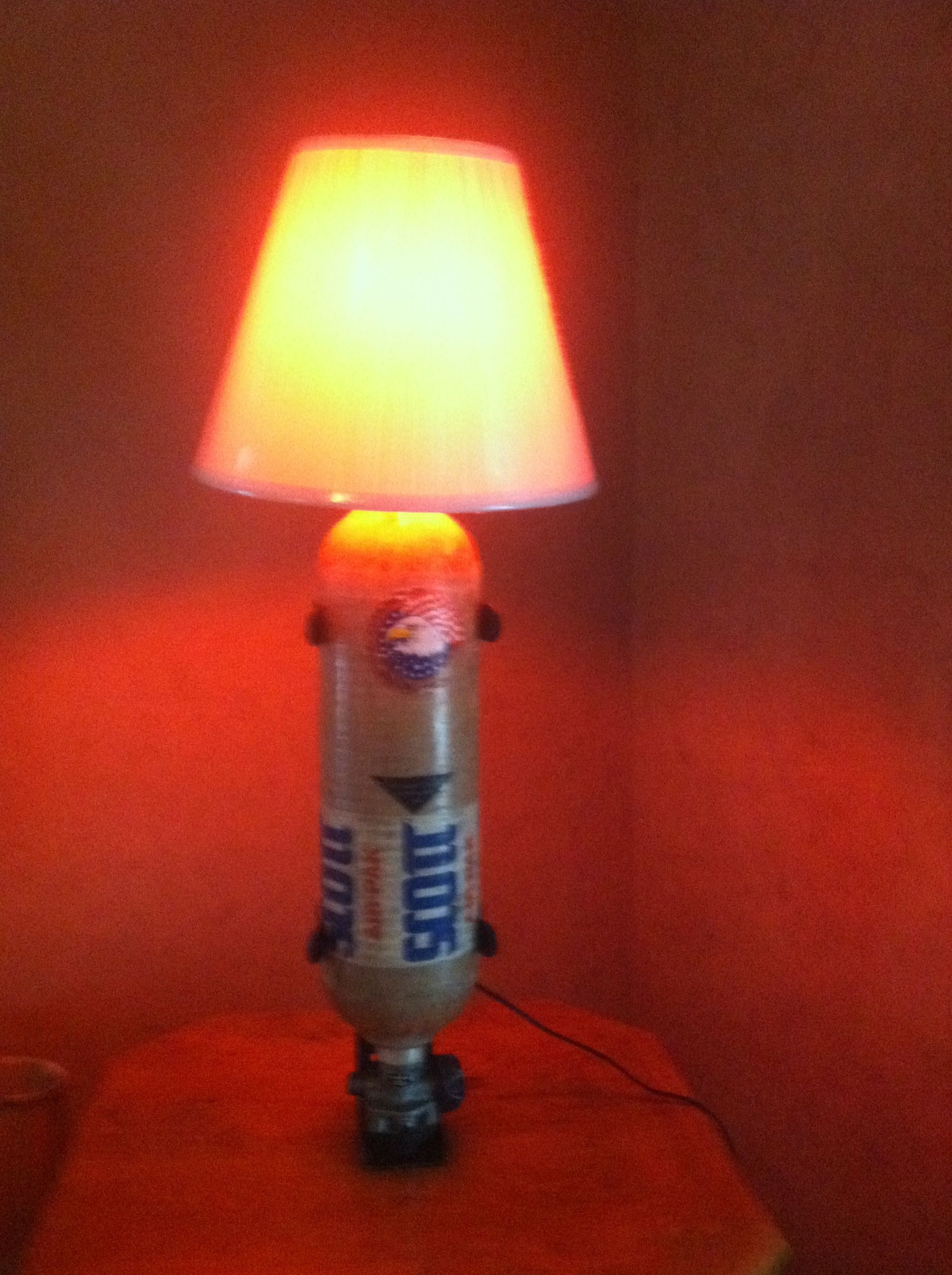 This Is A Lamp I Made Out Of A Scott