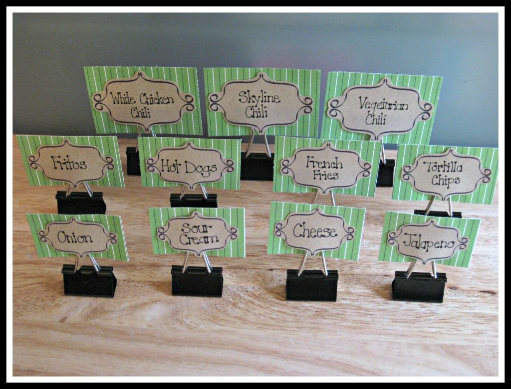 A Way To Use Binder Clips As Buffet Label Holders Party Ideas