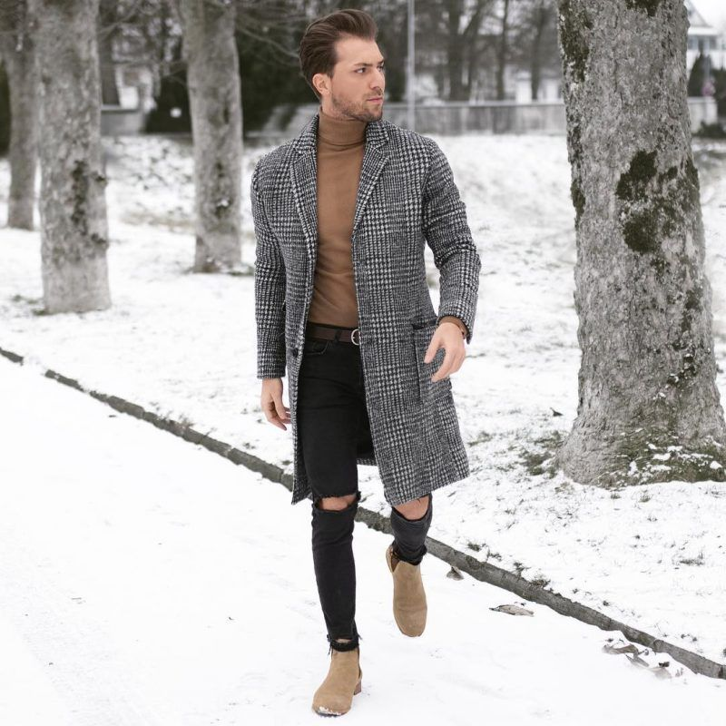 40 mens winter work outfit styles with winter boots. Chelsea