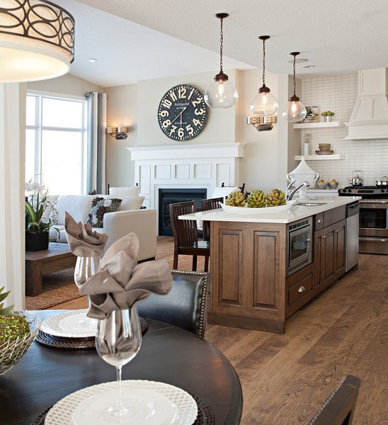 Large Open Concept Kitchen Design Ideas: Cranston Show Homes & Model Homes Gallery