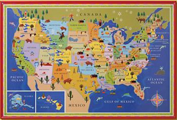 Maps And Guts One N Jen Each States Agricultural Commodity - Us agriculture map