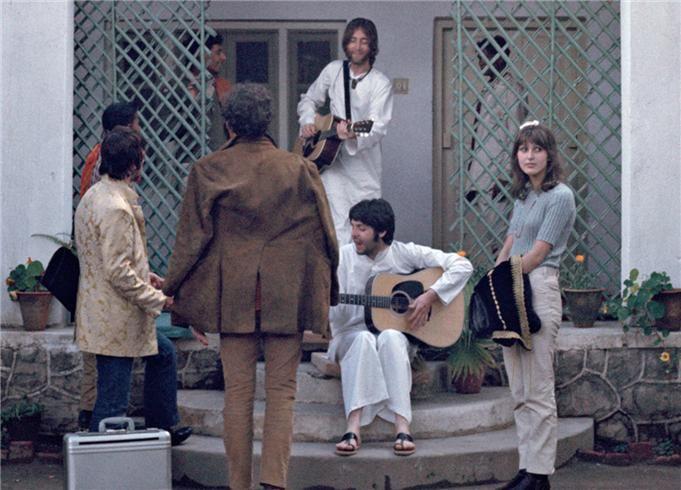 Beatles, Rishikesh, India 1968 © Paul Saltzman, 1968