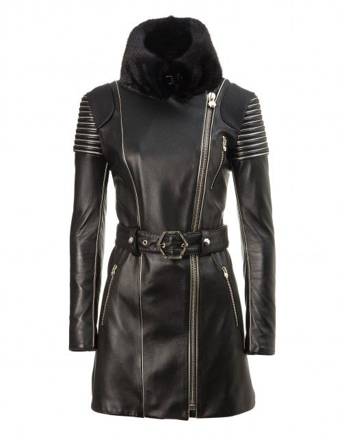 c50330789cb leather trench