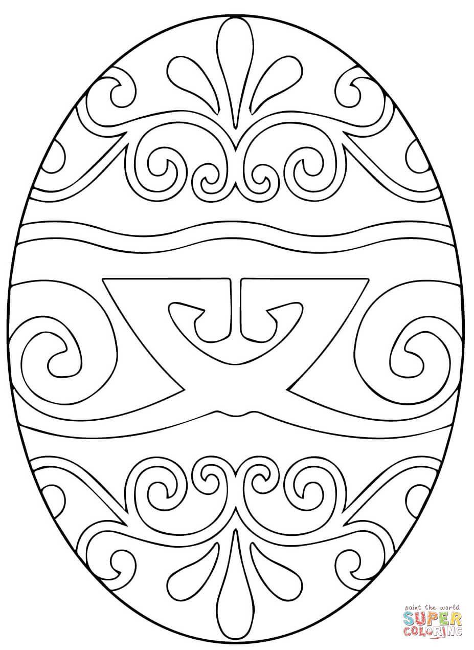 Pysanka Ukrainian Easter Egg Super Coloring Coloring Easter Eggs Coloring Eggs Easter Egg Coloring Pages