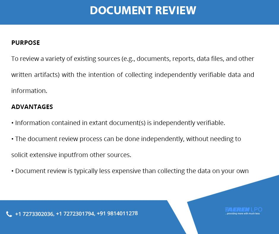 Managed Document Review Services Specifically Requires The