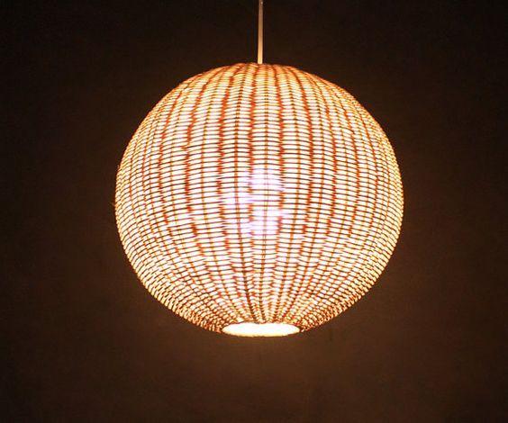 Sphere Rattan Pendant Lights Rattan Light Fixtures Rustic Lighting