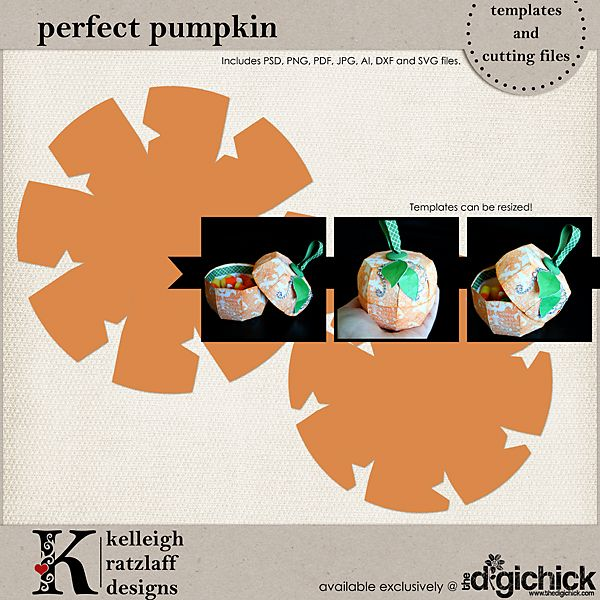 The Perfect Pumpkin Template Set and Cutting Files contains an ...
