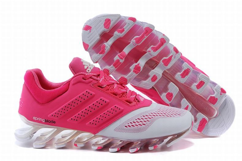 5654d4e11560 On Feet Ladies Adidas Springblade Drive 2.0 Pink White Trainers