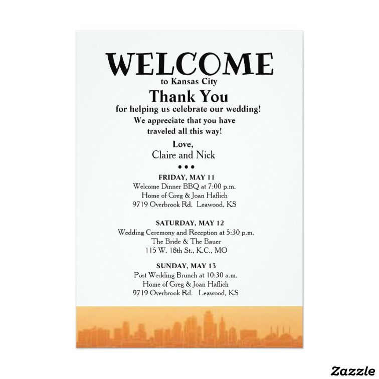 Create your own Invitation Zazzle Welcome bag Pinterest