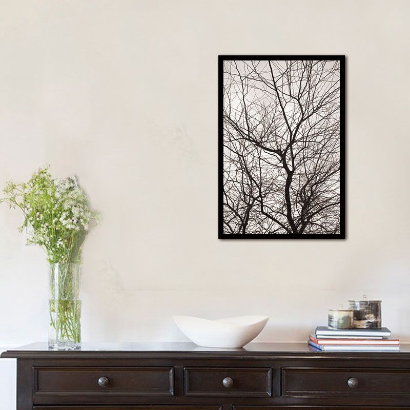 Scandinavian Decorideas: Nordic Trees Winter Abstract Wall Pictures For Living Room