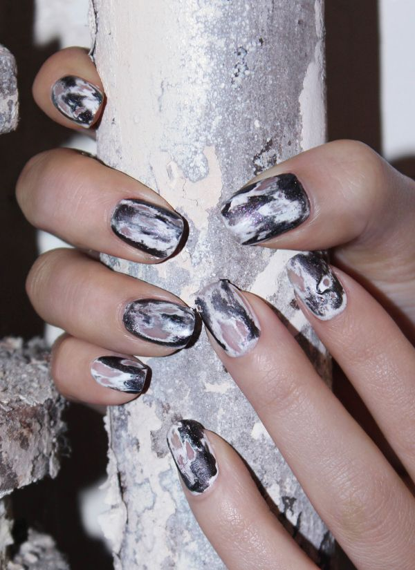 Halloween Nail Design How To Get Jinsoons Grunge Manicure Grunge