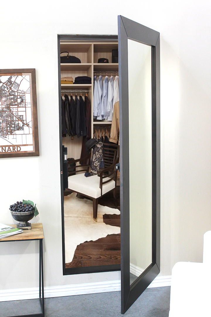 Easily Hide An Entire Room Or Closet With Our Pre Assembled Hidden Mirror  Door.
