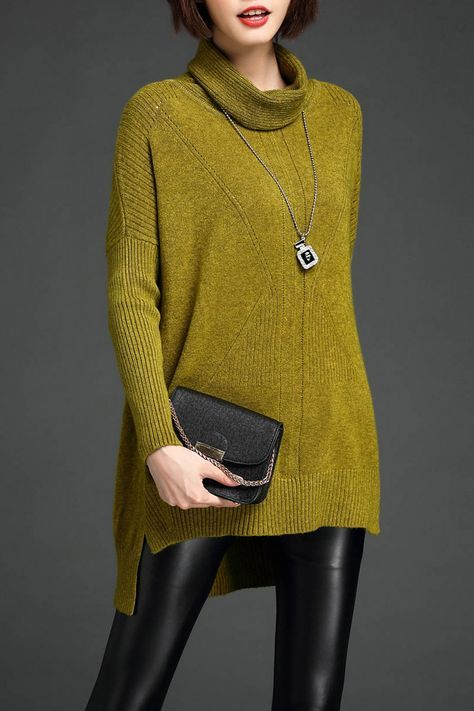 High Low Cowl Neck Sweater | Cowl neck and High low