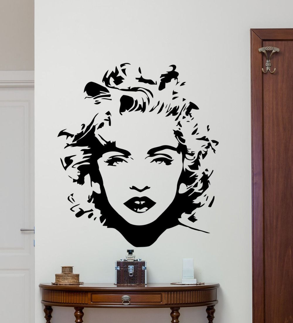 Removable wall decor madonna wall decal celebrity pop music vinyl removable wall decor madonna wall decal celebrity pop music vinyl sticker art decor home bedroom beauty amipublicfo Image collections