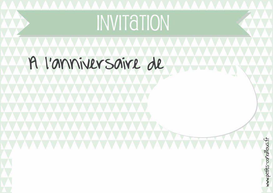 Cartes Invitation Anniversaire à Imprimer Gratuites Fils