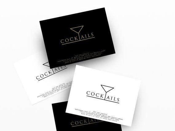 Cocktail Invitations Digital Printable Cocktail Invitation - business invitation template