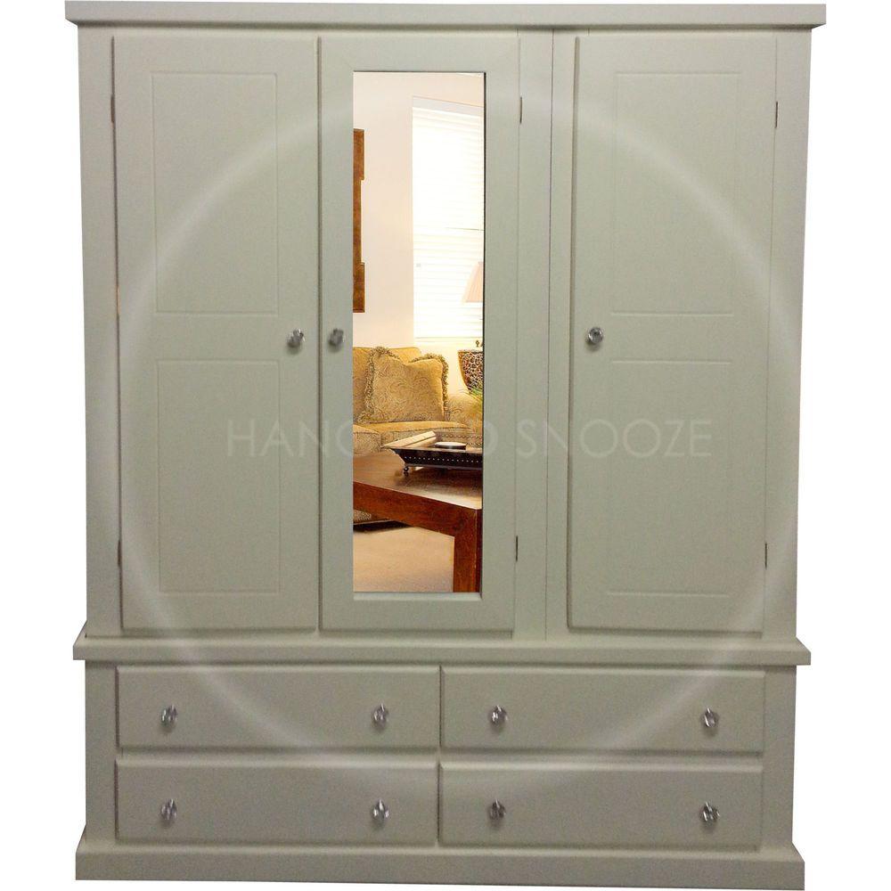 Hand made dewsbury furniture triple mirrored wardrobe ivorycrystal
