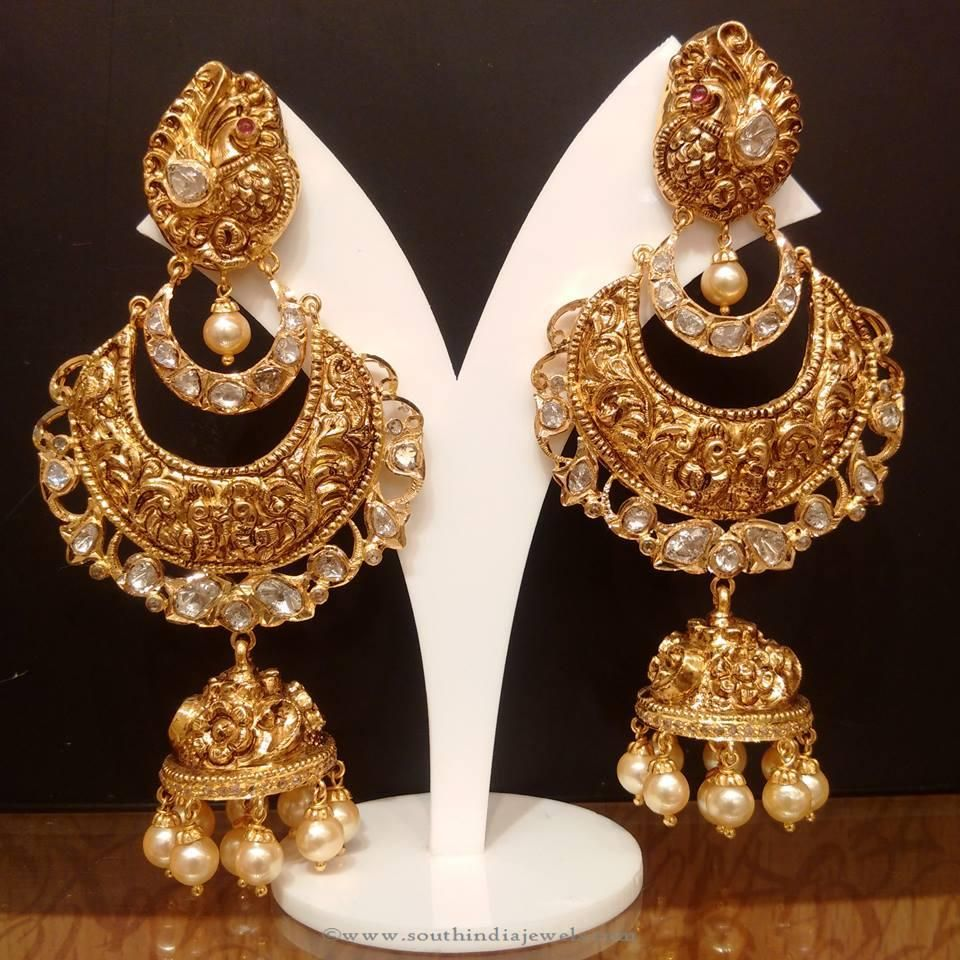 Gold Uncut Diamond Jhumka from NAJ   Uncut diamond, Diamond and Gold