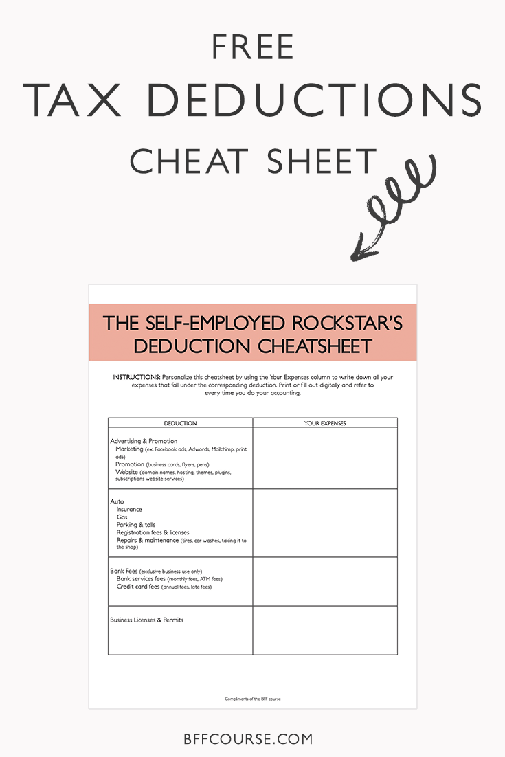 The Epic Cheatsheet To Deductions For The Self Employed Tax