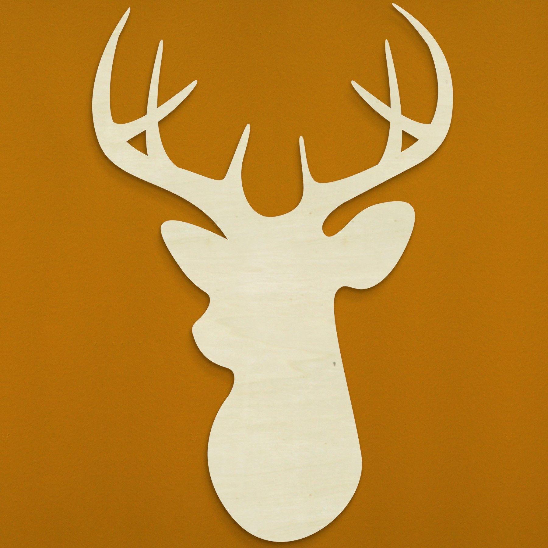 Wood Deer Head Reindeer Pinterest Woods Craft And