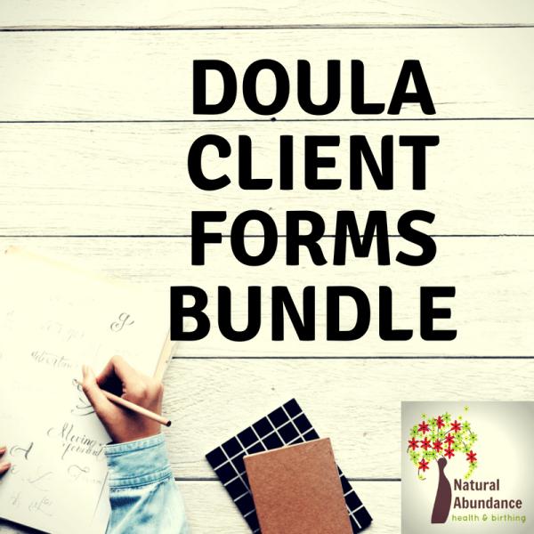 Doula Client Forms Bundle Doula, Doula business, Doula