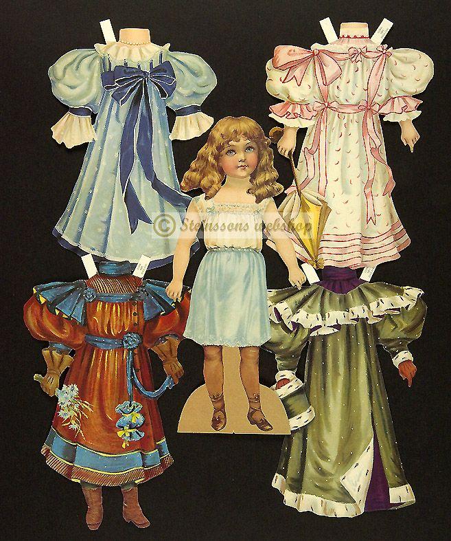 Alice, Dukke med kläder -utstansat