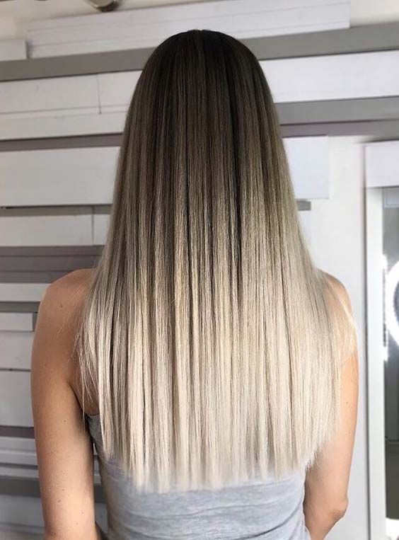 49 Gorgeous Long Straight Blonde Hairstyles To Flaunt In 2018 With Images Ombre Hair Blonde Gorgeous Hair Color Hair Styles