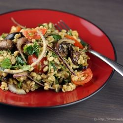 Mediterranean Eggplant and Bulgur Salad
