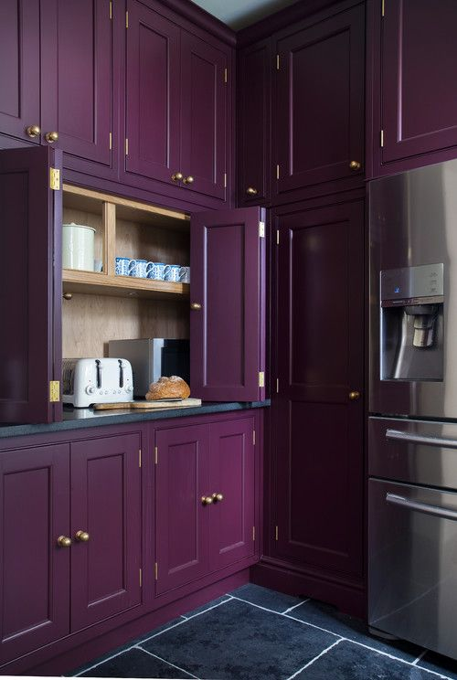 Georgianadesign Purple Kitchen Cabinets Purple Kitchen Painting Kitchen Cabinets