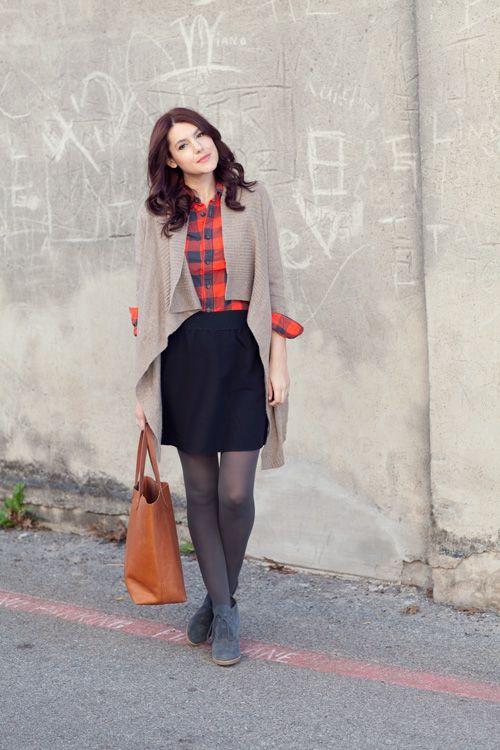 Skirt Shirt Outfits I Like Pinterest Plaid Inspiration And