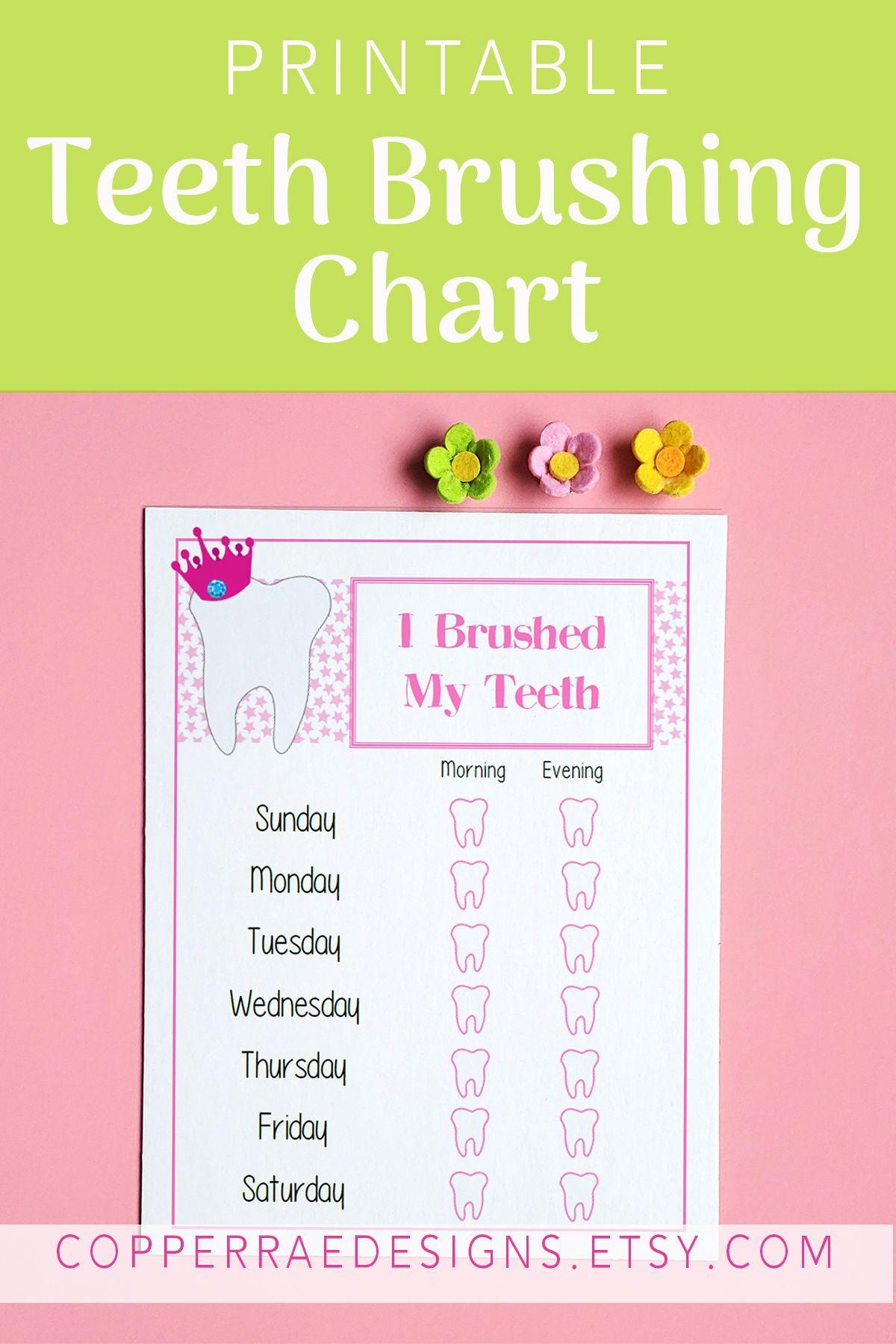 Teeth Brushing Chart Toddler Chart Kid S Reward Chart