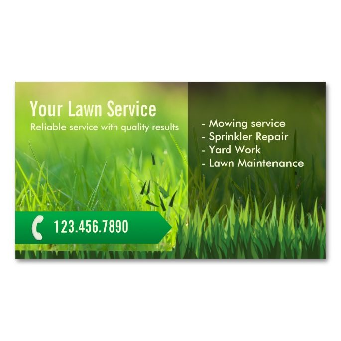 Professional Lawn Care & Landscaping Business Card ...