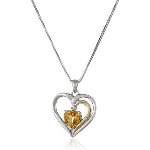 14K Gold Heart Pendant Necklace