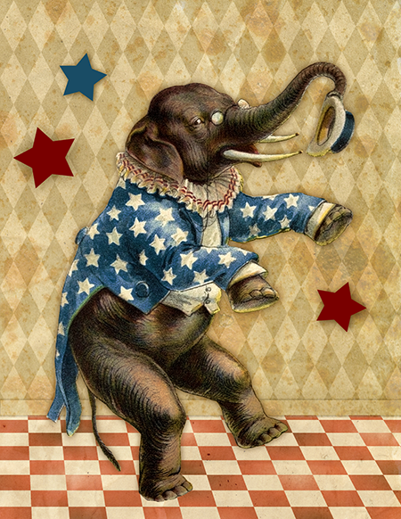 Old story books have wonderful circus images! Great for