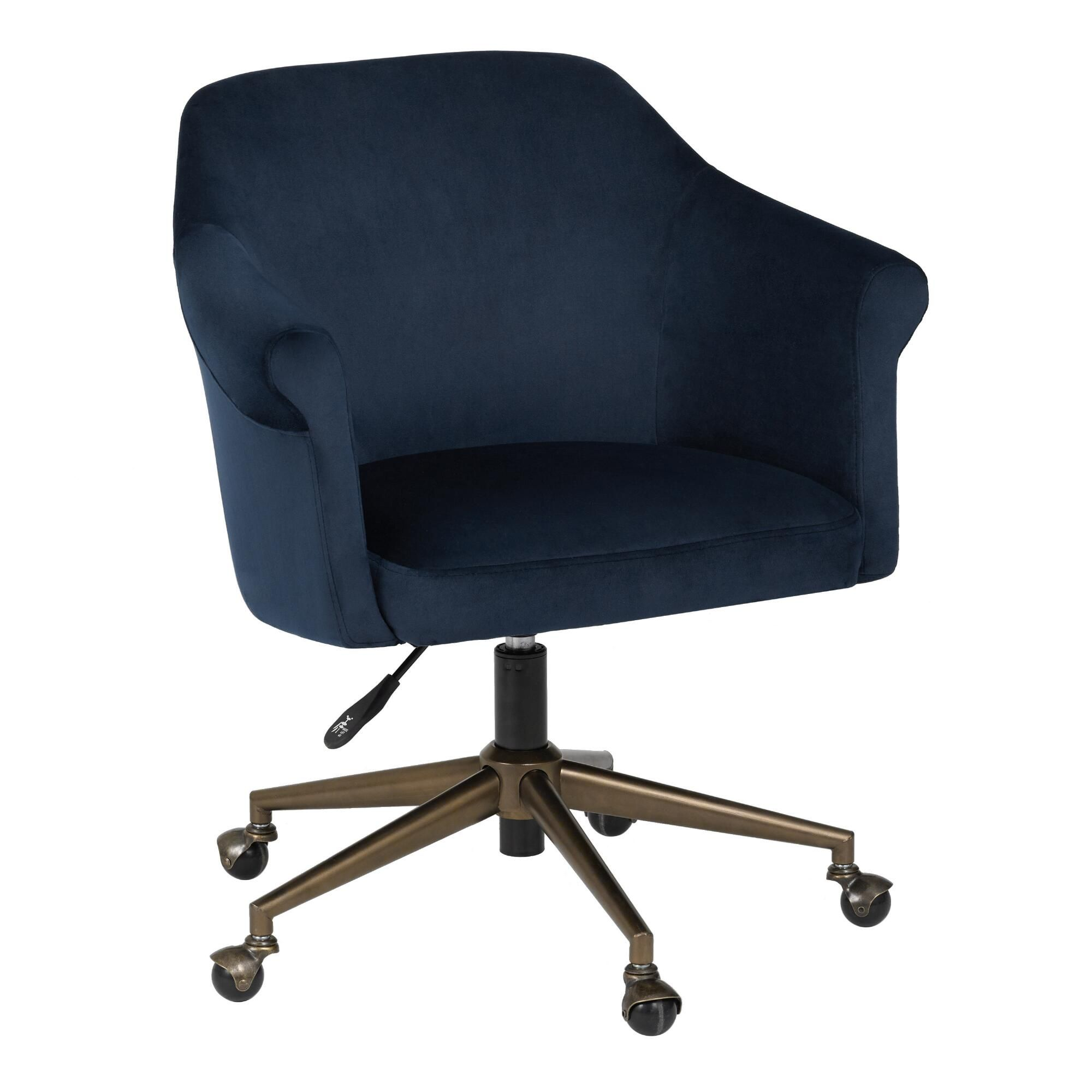 123 Reference Of Blue Office Chair With Arms Office Chair Blue Office Blue Accent Chairs