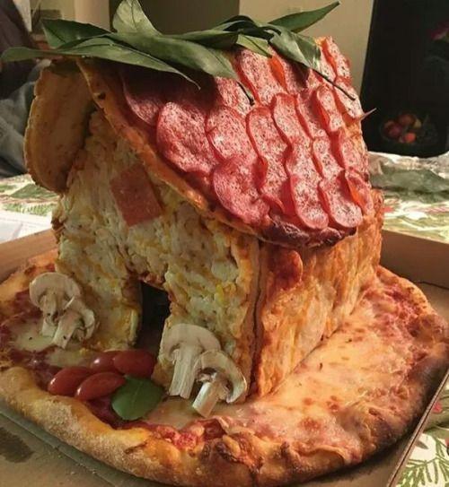 Pizza hut! Get it? #FoodPorn via gntmag