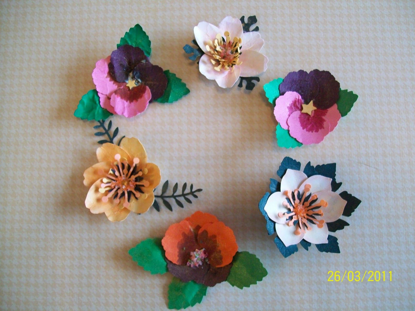 Home make paper flowers these were made using the cupping home make paper flowers these were made using the cupping pinching and bending mightylinksfo