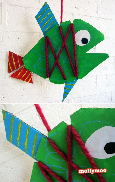 30min Craft Cardboard Fish