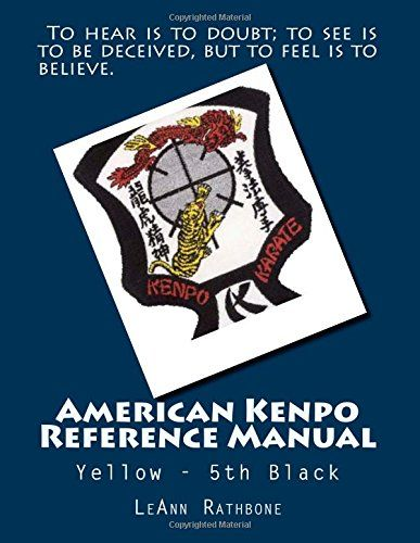 American Kenpo Reference Manual Yellow 5th Black By Leann